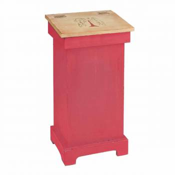 Kitchen Storage Red/Nature Wood Tree of Life Bin 25.5