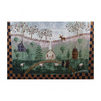 """<PRE>Afghan Throw Heavenly Heralds Polyester 68inchL x 51""""W </PRE>zoom5"""