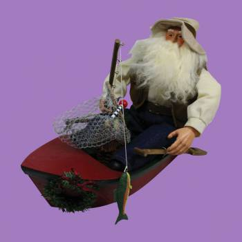 <PRE>Santa Fishing Centerpiece Resin Decorative 11inchH </PRE>zoom2