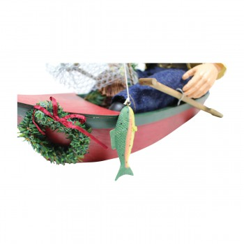 <PRE>Santa Fishing Centerpiece Resin Decorative 11inchH </PRE>zoom3