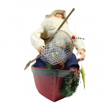 <PRE>Santa Fishing Centerpiece Resin Decorative 11inchH </PRE>zoom6