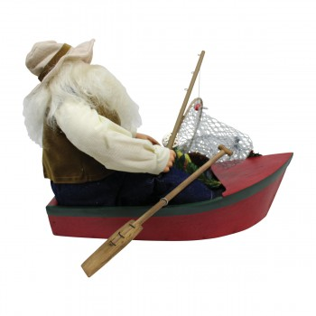 <PRE>Santa Fishing Centerpiece Resin Decorative 11inchH </PRE>zoom9
