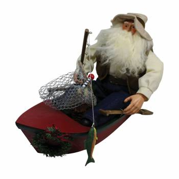 Santa Fishing Centerpiece Resin Decorative 11