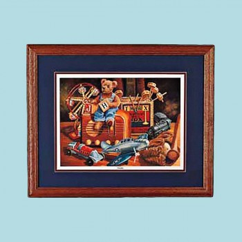 <PRE>Wall Art Old Toys Print Cherry Frame 20&quot; x 16&quot; </PRE>