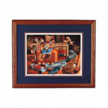 Wall Art Old Toys Print Cherry Frame 20