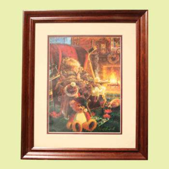 <PRE>Framed Print Toasty Warm Cherry Wood Frame 15.5&quot; x 18.5&quot; </PRE>