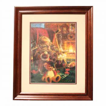 Framed Print Toasty Warm Cherry Wood Frame 15.5