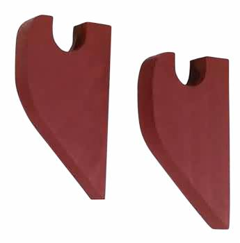 Pair Curtain Rod Red Pine Brackets 64895grid