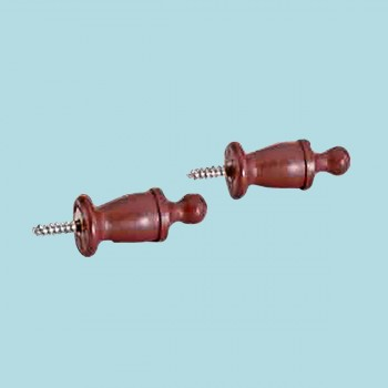 <PRE>Pair Curtain Rod Finials Raleigh Red Pine 3/4inch Proj </PRE>zoom2