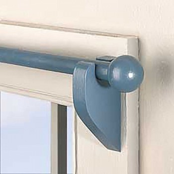 <PRE>Pair Curtain Rod Finials Country Blue Pine Ball  3/4inch </PRE>zoom3