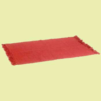 <PRE>Rectangular Area Rug 6' x 4' Red Cotton </PRE>zoom2