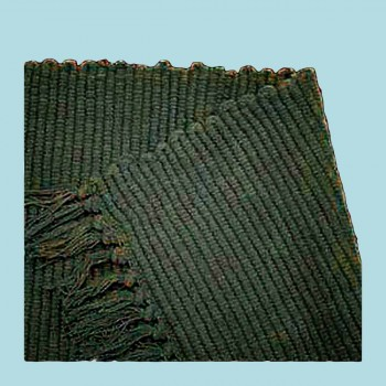 <PRE>Rectangular Area Rug 9' x 6' Green Cotton </PRE>