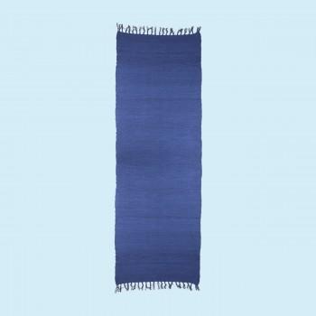 <PRE>Rectangular Area Rug 9' x 6' Blue Cotton </PRE>zoom2