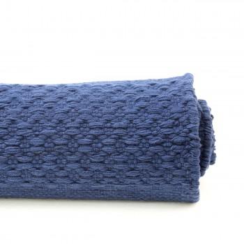 <PRE>Rectangular Area Rug 9' x 6' Blue Cotton </PRE>zoom6