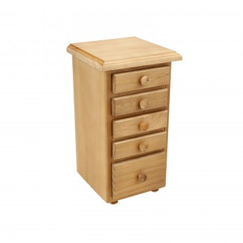 Kitchen Spice Chest Unfinished Pine 5 Drawer 65092grid