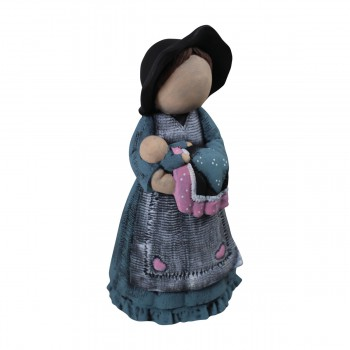 Mother with Baby Figurine Ceramic 11 34H Figurines Figurine Ceramic Figurines