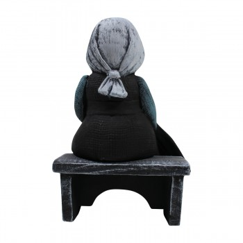 Amish Girl on Bench Figurine Ceramic 7 34H Figurines Figurine Ceramic Figurines