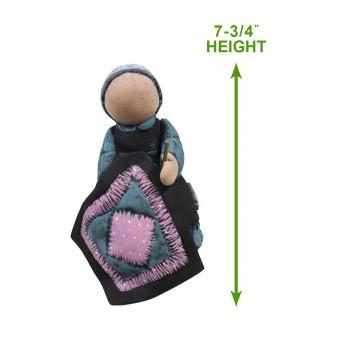 """spec-<PRE>Amish Girl on Bench Figurine Ceramic 7 3/4""""H </PRE>"""