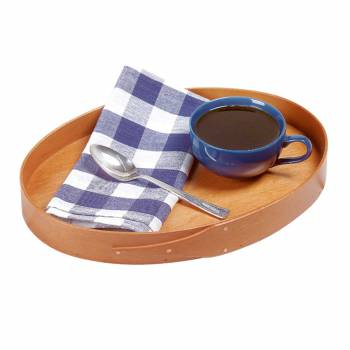 Kitchen Tray Small Oval Wood Shaker Tray 14.5