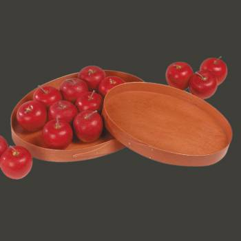 <PRE>Trays Natural Wood Shaker Lg Oval Tray </PRE>
