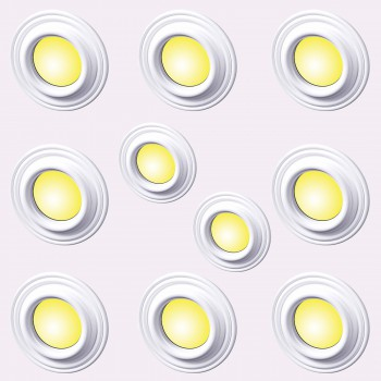 Spot Light Ring White Trim 5 ID x 9 OD Mini Medallion Set of 10 Light Medallion Light Medallions Lighting Medallion