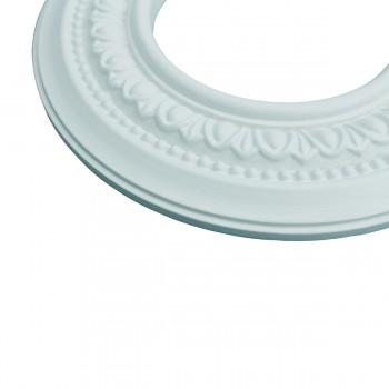 "<PRE>5 Spot Light Ring White Trim 4inch ID x 8"" OD Mini Medallion Set of 5 </PRE>zoom7"