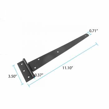 spec-<PRE>Tee Hinge Black Iron Tee Hinge RSF finish 13 in. W Pack of 3</PRE>