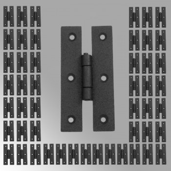 <PRE>50 Cabinet Hinge Black Iron H Flush 3'' H </PRE>