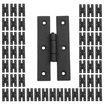 50 Hinge Black Wrought Iron H Hinge Flush Hinge 3 in. H