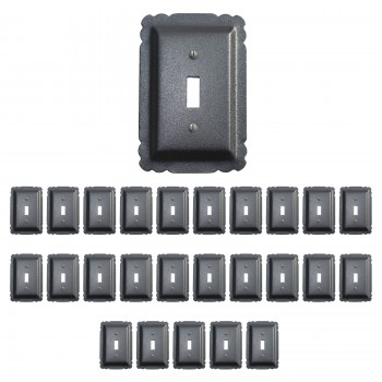 25 Switchplate Black Steel Single Toggle Switch Plate Wall Plates Switch Plates