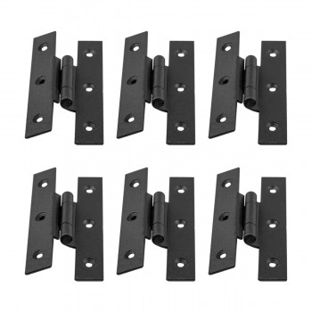 Forged Iron Cabinet Hinge H Style 35 inch H w Offset Pack of 6