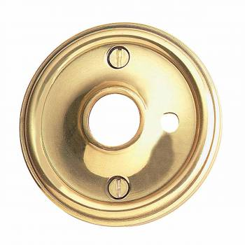 Pair Solid Brass Classic Rosette 2 12 w Privacy Pin Hole Door Hardware Door Knob Roses Door Knob Back Plates
