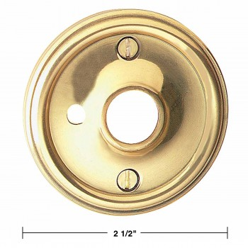 "spec-<PRE>Pair Solid Brass Classic Rosette 2 1/2"" w/ Privacy Pin Hole </PRE>"