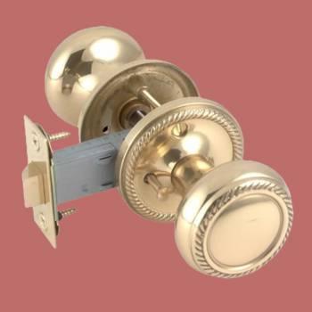<PRE>Privacy Door Lock Set 2 3/8inch Backset Heavy Cast Brass Knobs </PRE>zoom2