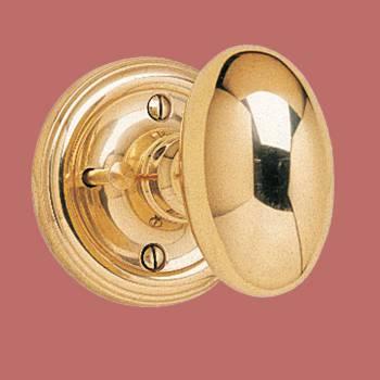<PRE>Privacy Door Knob Set Oval Solid Brass 2 3/8'' Backset </PRE>zoom2