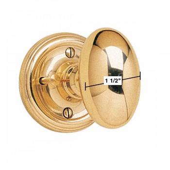 spec-<PRE>Privacy Door Knob Set Oval Solid Brass 2 3/8'' Backset </PRE>