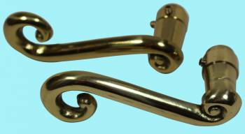 <PRE>Door Levers Solid Brass RSF Swirl Handle Pair </PRE>zoom2