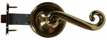 <PRE>Door Levers Solid Brass RSF Swirl Handle Pair </PRE>zoom3