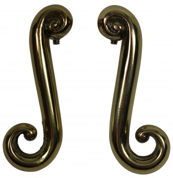 <PRE>Door Levers Solid Brass RSF Swirl Handle Pair </PRE>zoom4