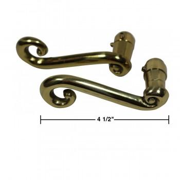 spec-<PRE>Door Levers Solid Brass RSF Swirl Handle Pair </PRE>