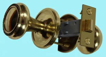 <PRE>Pair Bright Solid Brass Braided Door Knob Brass Shanks </PRE>zoom2