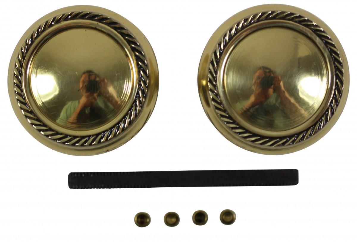 Pair Bright Solid Brass Braided Door Knob Brass Shanks Door Hardware Door Knob Sets Door Knob