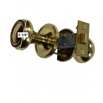 spec-<PRE>Pair Bright Solid Brass Braided Door Knob Brass Shanks </PRE>