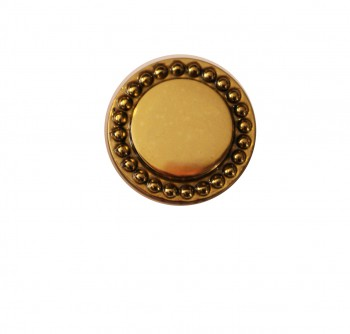 <PRE>Vintage Cabinet Knob Bright Solid Brass Beaded 1inch Dia </PRE>zoom3