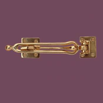 <PRE>Door Security Safety Guard Lock Latch Heavy Solid Brass </PRE>zoom2