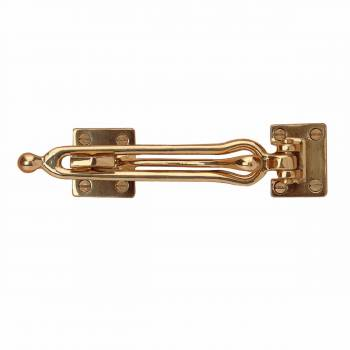 Door Security Safety Guard Lock Latch Heavy Solid Brass 66065grid