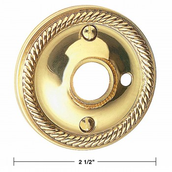 "spec-<PRE>Pair Rosette Bright Solid Brass 2 1/2"" Braided Knob Privacy </PRE>"