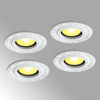 4 Spot Light Trim White Urethane Recess 6