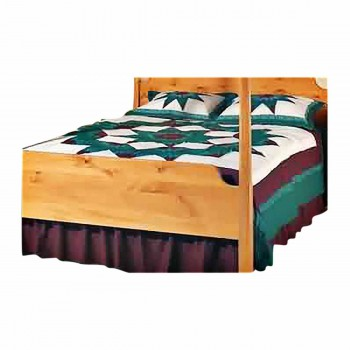 Comforter Set Burgundy, Green, White Queen Set 665871grid
