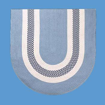 <PRE>Oval Area Rug 6' x 4' Blue Cotton </PRE>zoom2